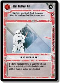 star wars ccg a new hope limited blast the door kid