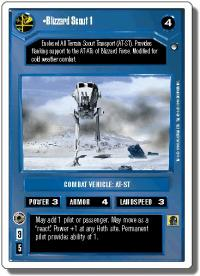 star wars ccg hoth revised blizzard scout 1 wb