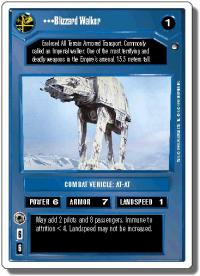 star wars ccg hoth revised blizzard walker wb