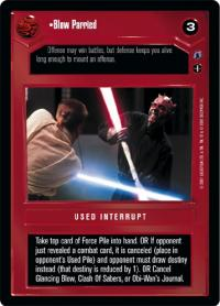 star wars ccg reflections iii premium blow parried