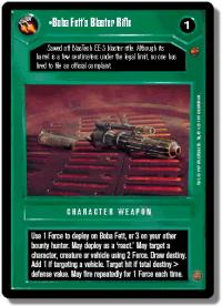 star wars ccg cloud city boba fett s blaster rifle