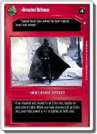 star wars ccg hoth revised breached defenses wb