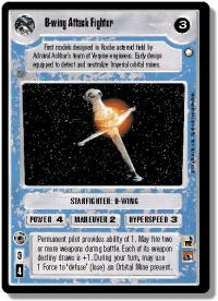 star wars ccg special edition b wing attack fighter