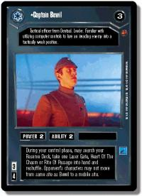star wars ccg cloud city captain bewil