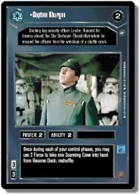 star wars ccg a new hope limited captain khurgee