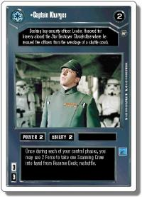 star wars ccg a new hope revised captain khurgee wb