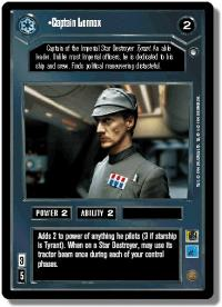 star wars ccg hoth limited captain lennox