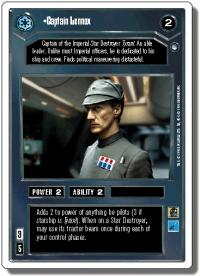 star wars ccg hoth revised captain lennox wb