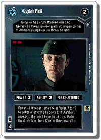 star wars ccg hoth revised captain piett wb