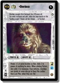 star wars ccg a new hope limited chewbacca