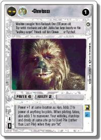 star wars ccg a new hope revised chewbacca wb