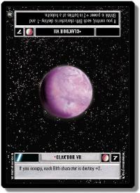 star wars ccg a new hope limited clak dor vii