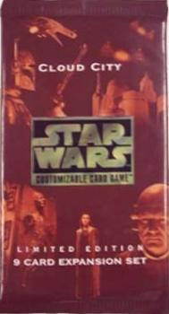 star wars ccg star wars sealed product cloud city booster pack