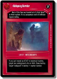 star wars ccg hoth limited collapsing corridor