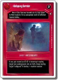 star wars ccg hoth revised collapsing corridor wb
