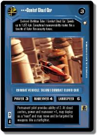 star wars ccg special edition combat cloud car