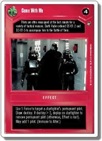 star wars ccg a new hope revised come with me wb