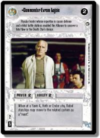 star wars ccg a new hope limited commander evram lajaie