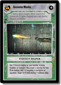 star wars ccg death star ii concussion missles light