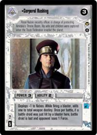 star wars ccg theed palace corporal rushing