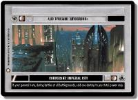 star wars ccg special edition coruscant imperial city
