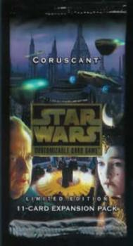 star wars ccg star wars sealed product coruscant booster pack