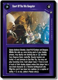 star wars ccg enhanced court of the vile gangster