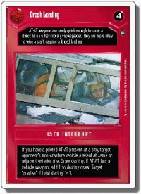 star wars ccg hoth revised crash landing wb