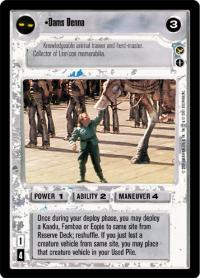 star wars ccg theed palace dams denna