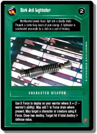star wars ccg premiere unlimited dark jedi lightsaber wb