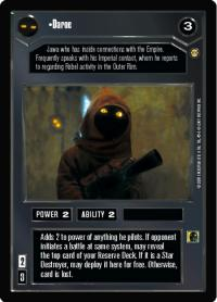 star wars ccg tatooine daroe