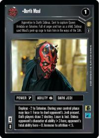star wars ccg tatooine darth maul ai