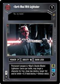 star wars ccg tournament foils darth maul with lightsaber foil