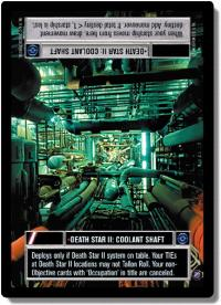 star wars ccg death star ii death star ii coolant shaft