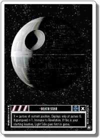 star wars ccg a new hope revised death star wb