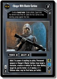 star wars ccg enhanced dengar with blaster carbine