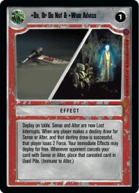 star wars ccg reflections ii premium do or do not wise advice
