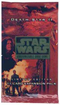 star wars ccg star wars sealed product death star ii booster pack