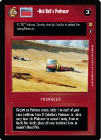 star wars ccg tatooine dud bolt s podracer