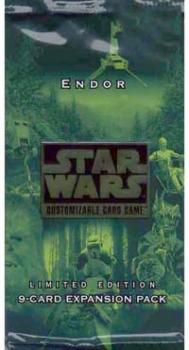star wars ccg star wars sealed product endor booster pack