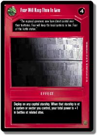 star wars ccg premiere limited fear will keep them in line