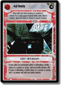 star wars ccg premiere limited full throttle