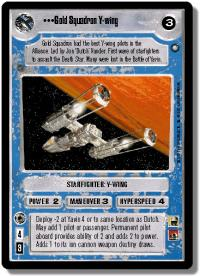 star wars ccg anthologies sealed deck premium gold squadron y wing