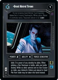 star wars ccg reflections ii premium grand admiral thrawn