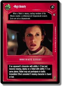 star wars ccg hoth limited high anxiety