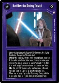 star wars ccg enhanced hunt down and destroy the jedi oversized