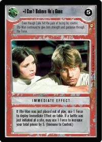 star wars ccg tatooine i can t believe he s gone