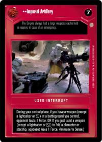 star wars ccg coruscant imperial artillery