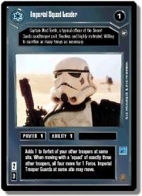 star wars ccg a new hope limited imperial squad leader