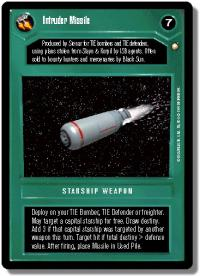 star wars ccg special edition intruder missile dark